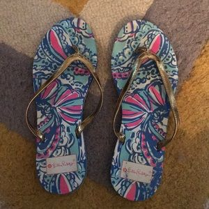 Lilly Pulitzer for Target size 8 flip flops